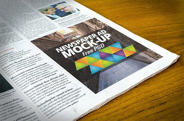 15+ Best Free PSD Newspaper Ad Mockups | FreeCreatives