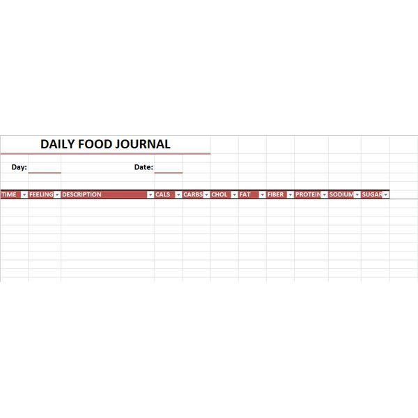 Three Downloadable Food Journals: Pocket Journal, Refrigerator ...