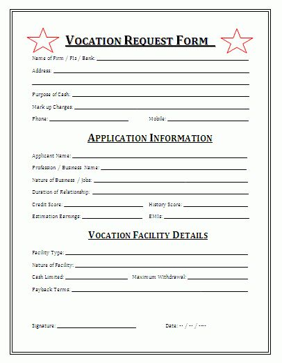 Request Forms | Formsword: Word Templates & Sample Forms