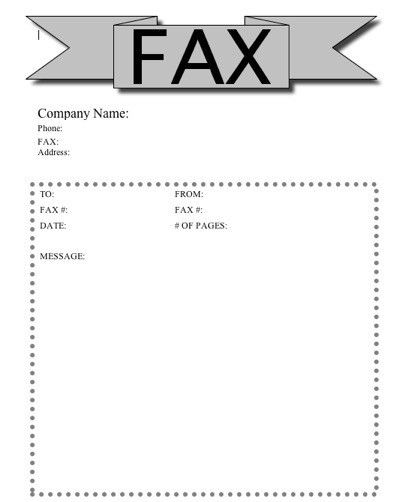 Banner Fax Cover Sheet at FreeFaxCoverSheets.net