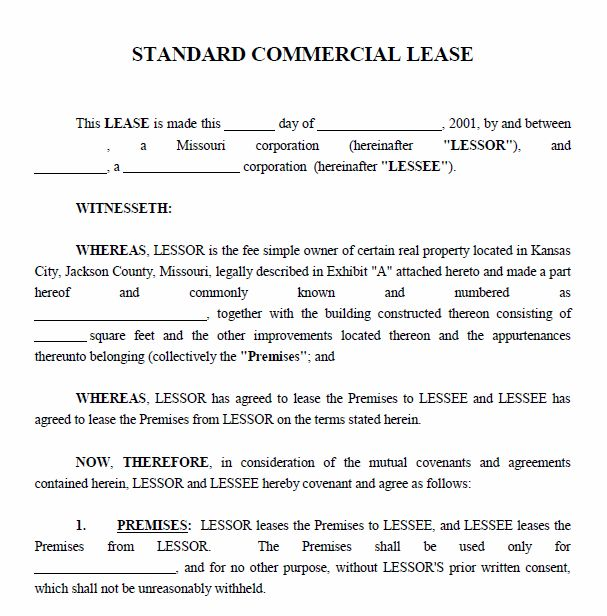 10 Best Images of Commercial Property Lease Agreement - Printable ...
