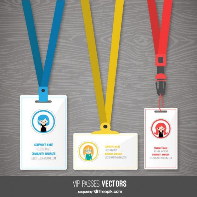 Pass templates pack Vector | Free Download