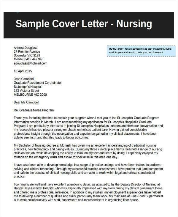 9+ Job Application Letters For Nurse - 9+ Free Word, PDF Format ...