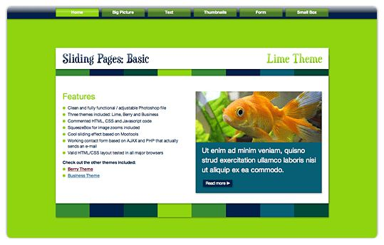 Template: Sliding Pages Basic | Blog.Medianotions