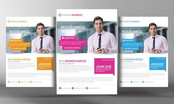Corporate Flyer Template by Business Templates on @creativemarket ...