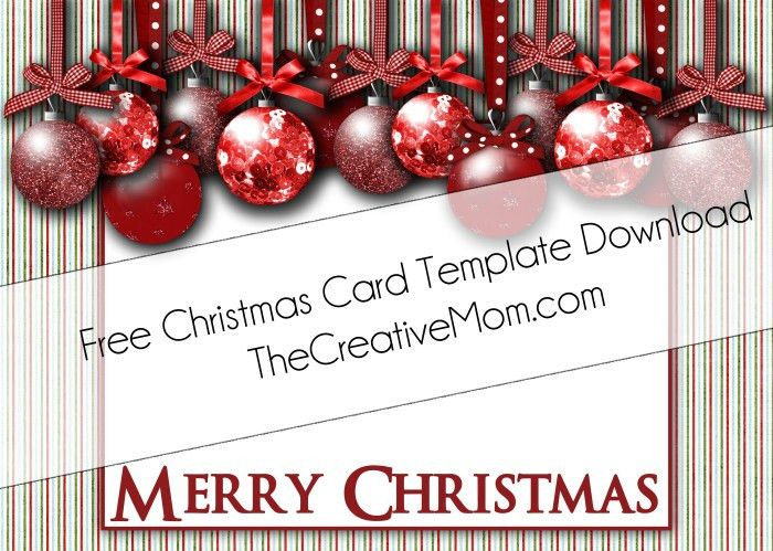 Christmas Card Templates {Free Download} - The Creative Mom