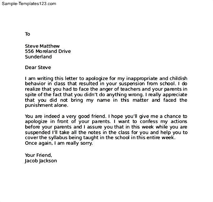 Sample Apology Letter To Parents Apology Letter To Parents