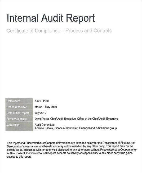 41 Report Format Samples