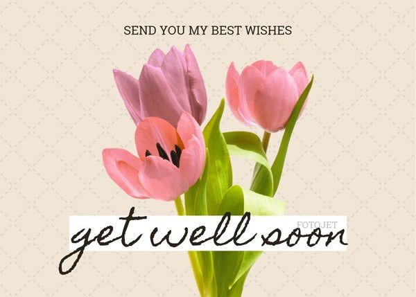 Floral Get Well Soon Card Template Template | FotoJet