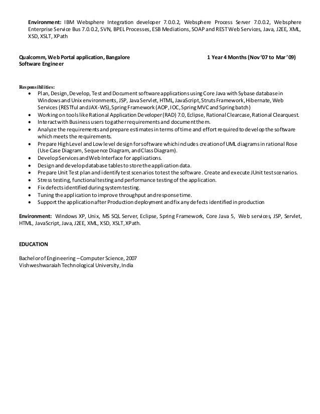 Resume Naveen- IBM SOA-BPM WPS Lead Developer_8.6 +Years