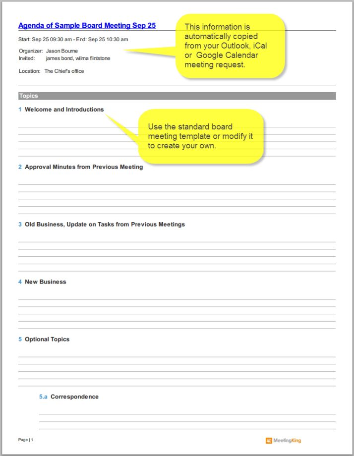 19+ Agenda Template Free | Create A Detailed Itinerary Spreadsheet ...
