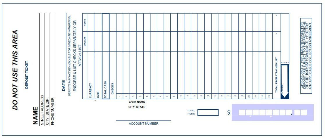 28+ Free Deposit Slip Template | Bank Deposit Slip Template Excel ...