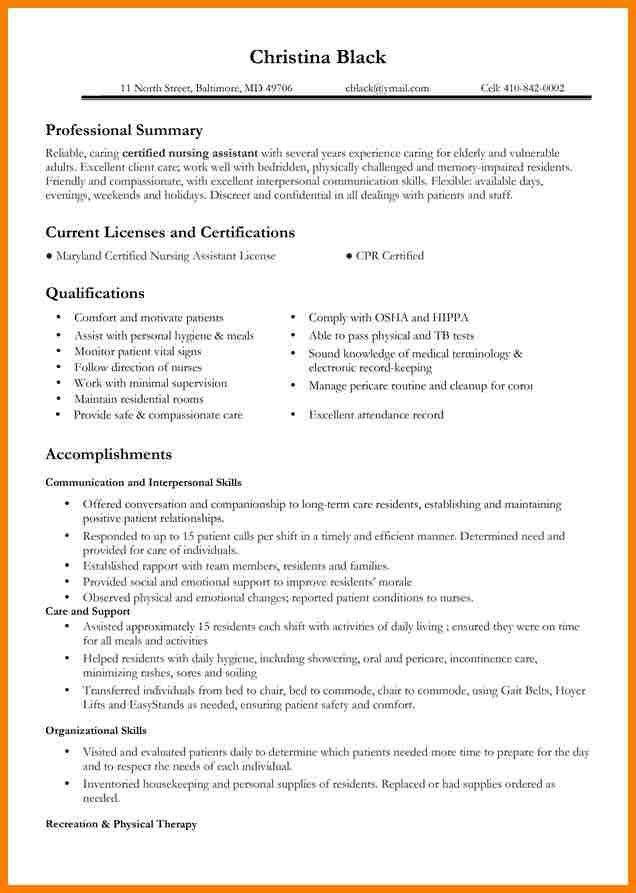 Nursing Resume Template. Certified Emergency Nurse Experienced Mid ...