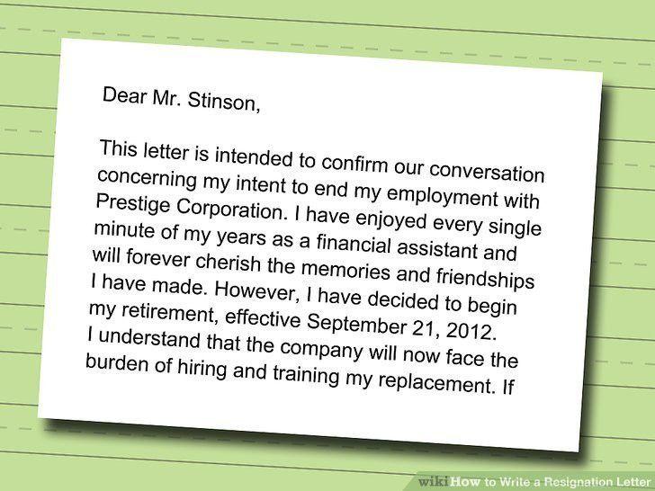 Sending Resignation Letter Steps. Resignation Letter Format ...
