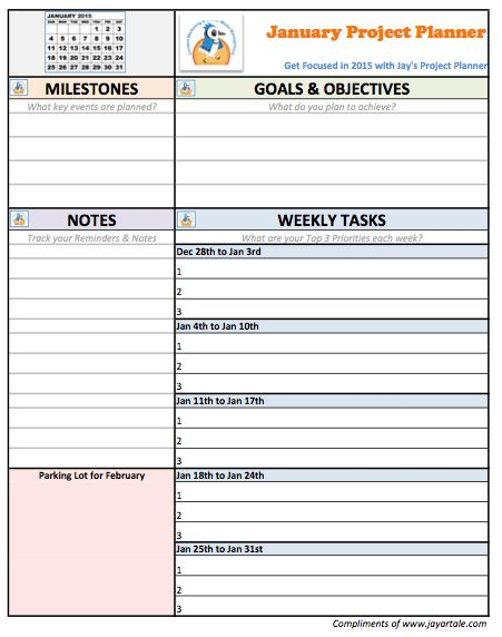 Project Planning Template | cyberuse