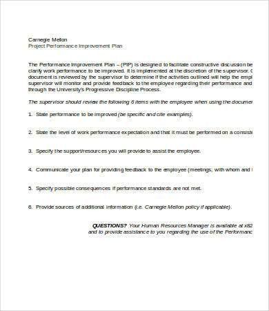 Performance Improvement Plan Template - 8+ Free Word, PDF ...