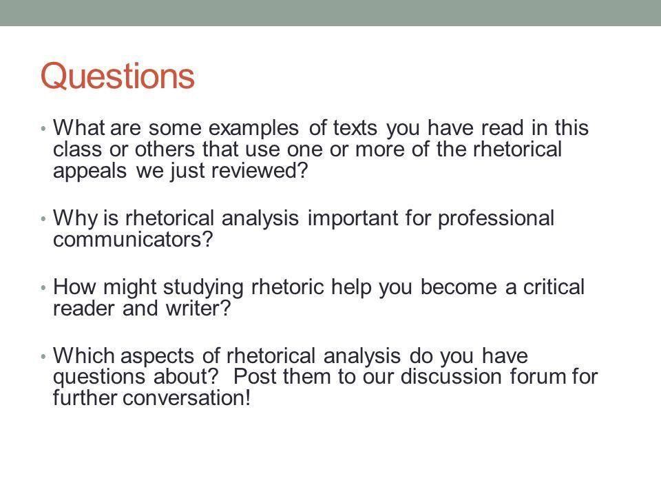 Rhetorical Analysis A Brief Guide to Understanding How Rhetoric ...