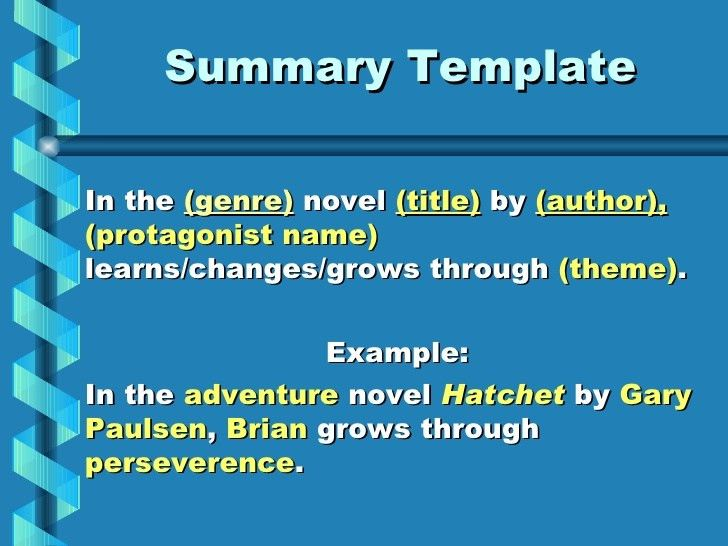 Book report summary