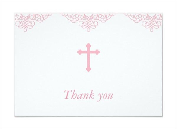 12+ Baptism Thank You Cards - Free PSD, AI, EPS Format Download ...