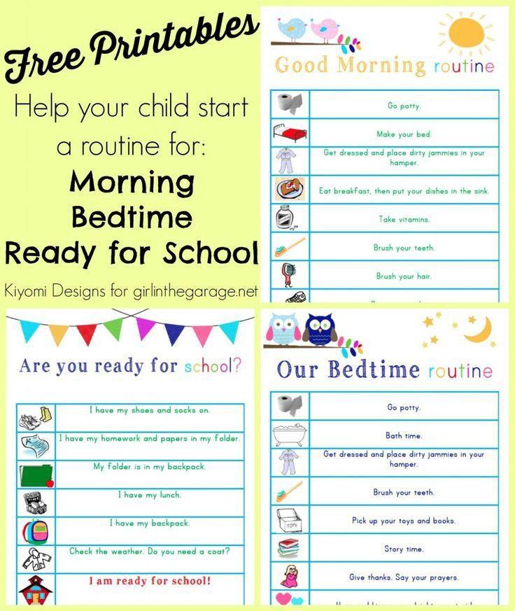 Best 20+ Kids morning checklist ideas on Pinterest | Daily routine ...