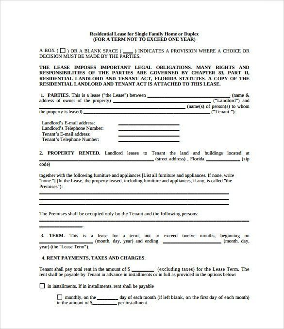 Sample Property Lease Agreement Template   8+ Documents In PDF