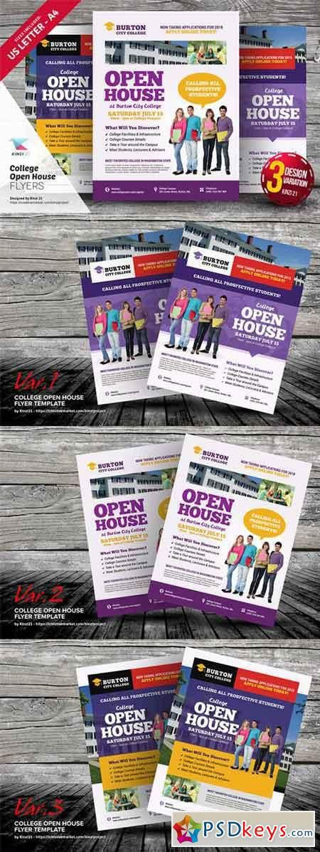 College Open House Flyer Templates 639554 » Free Download ...