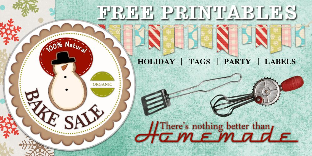 Free Printable Tags | Organic Bake Sale Farmers Market Tags