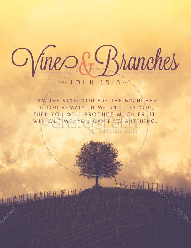 Vine and Branches Religious Flyer Template | Flyer Templates