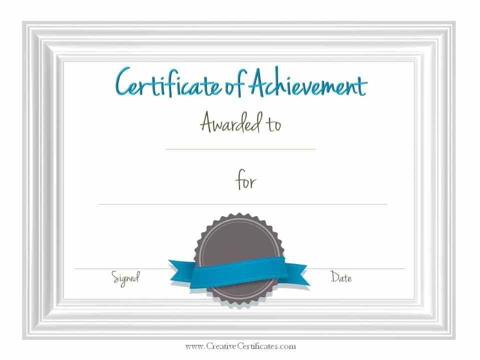 Achievement Templates Free Printable Certificates Of Achievement – Free Customizable Printable Certificates of Achievement