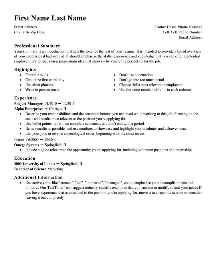 Download Standard Resume | haadyaooverbayresort.com