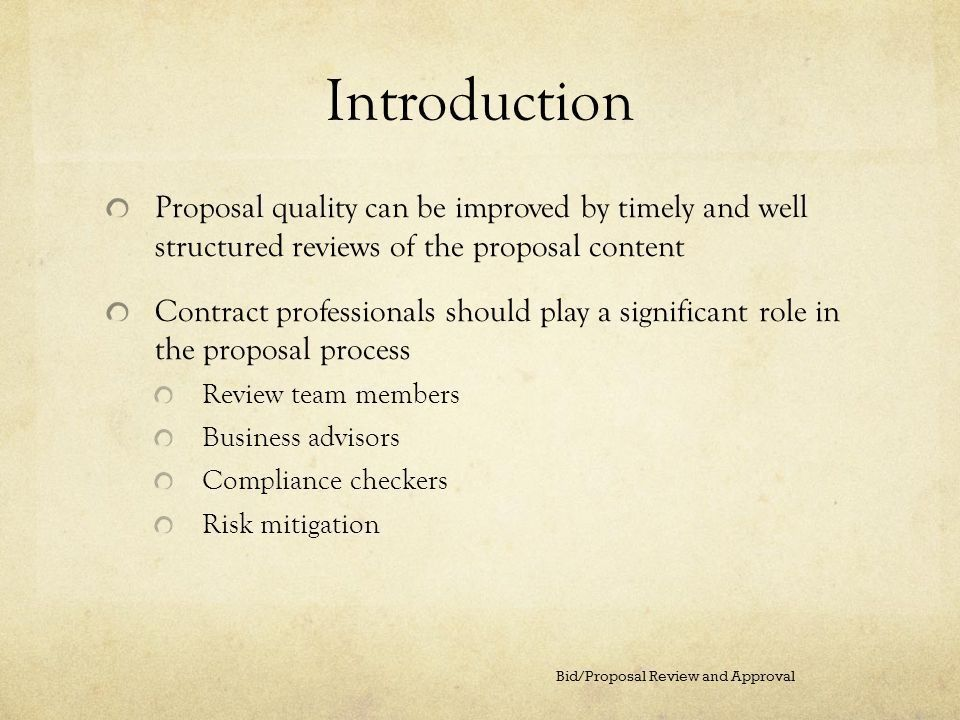 Bid/Proposal Review and Approval - ppt video online download
