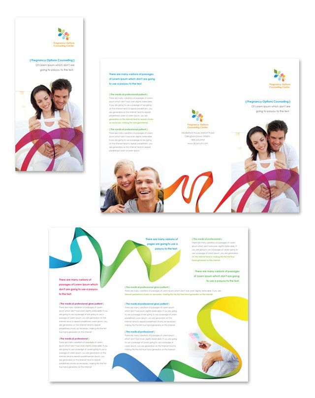 Pregnancy Options Counseling Tri Fold Brochure Template http://www ...