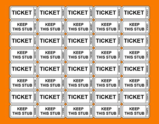 5 free printable raffle tickets | Receipt Templates