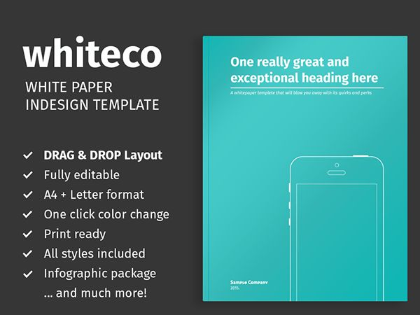 White Paper Template for InDesign on Behance | White Paper Designs ...