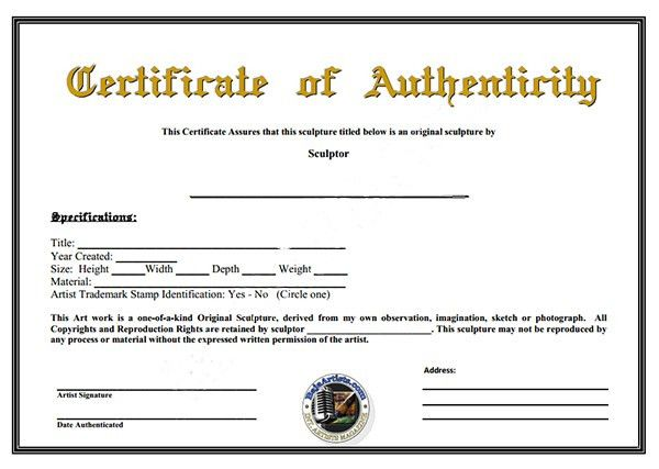 Certificate Of Authenticity Template | aplg-planetariums.org