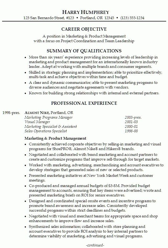 Marketing Project Manager Resume | The Best Resume