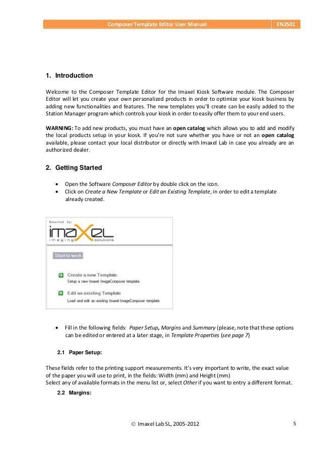 En2501 composer template editor user manual