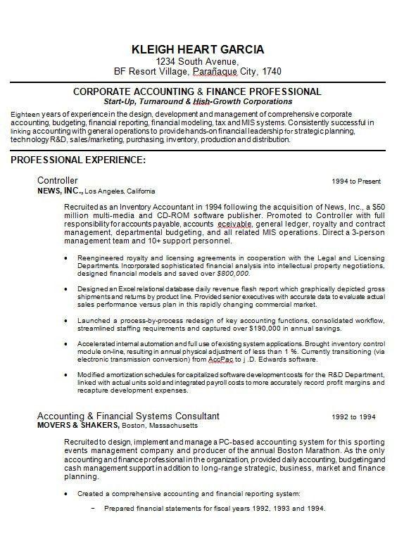 Download 10 Samples Of Professional Resume Formats | [esc]