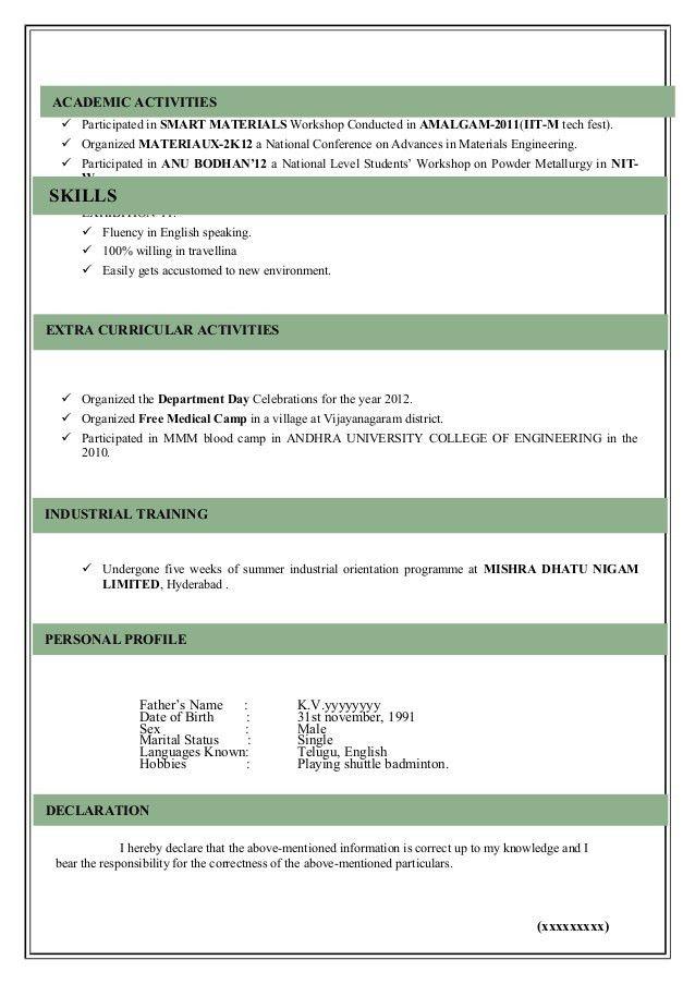 Modeling Resume Template. Director Fresher Resume Pdf Free ...