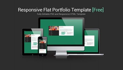 Flat & Responsive Portfolio Website Template [Free Download ...