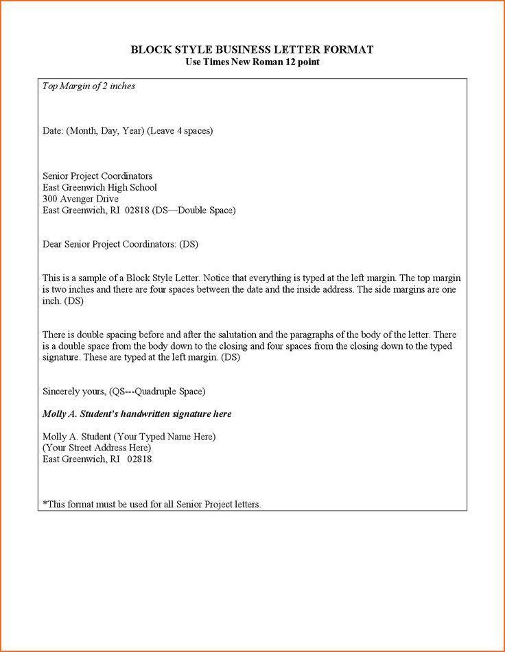 Die besten 25+ Business letter format example Ideen auf Pinterest ...