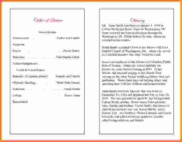 Obituaries Template.obituary Program Example 1.jpg - Sales Report ...