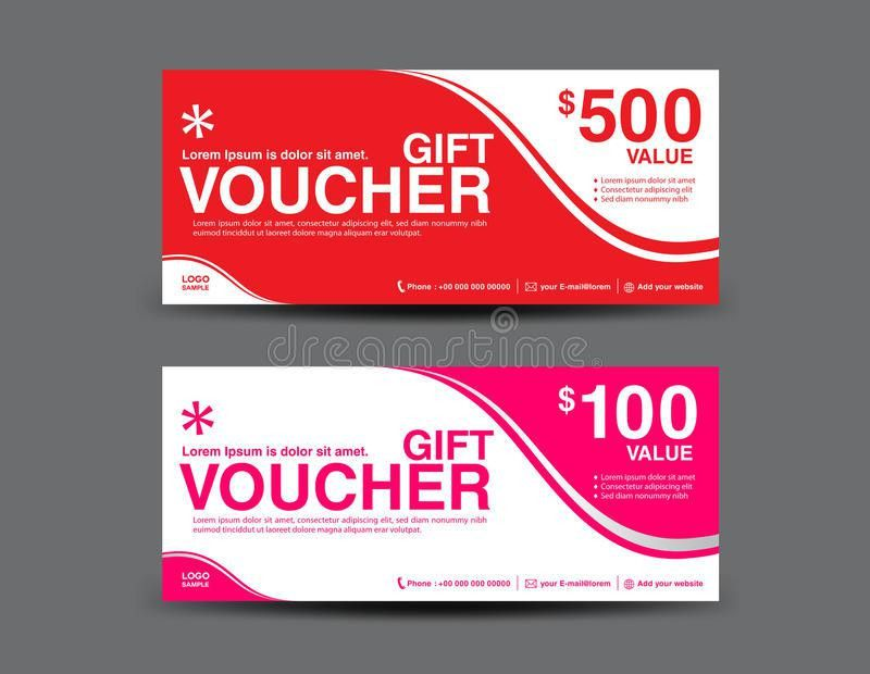 Gift Voucher Template, Coupon Design,ticket,vector Illustration ...