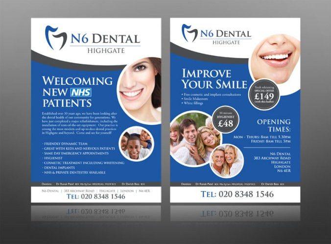 5 dentist leaflet / flyer design examples for inspiration ...