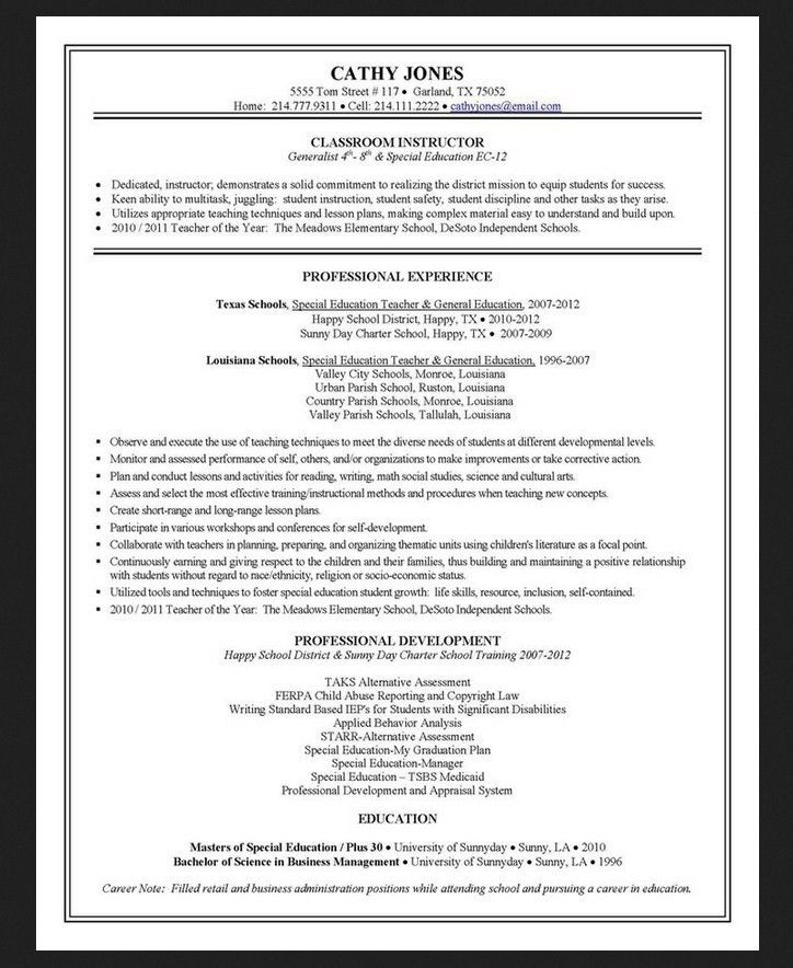 Resume Cover Letter For Teacher Aide Teacher Resume And Cover ...