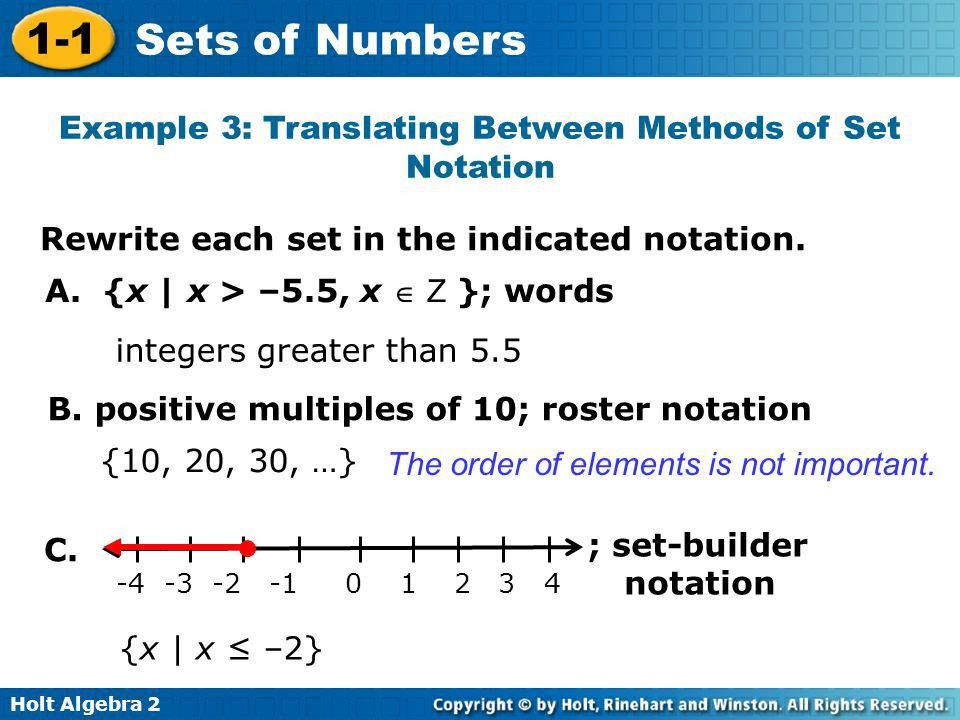 1-1 Sets of Numbers Warm Up Lesson Presentation Lesson Quiz - ppt ...