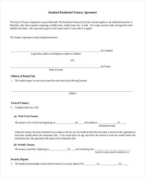 House Rental Agreement - 9+ Word, PDF Documents Download | Free ...