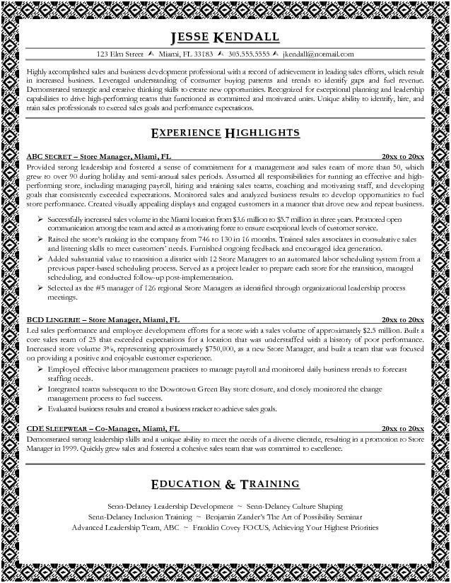 retail manager resume examples retail manager resume is made for ...