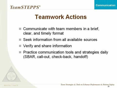 Communication: Classroom Slides | Agency for Healthcare Research ...