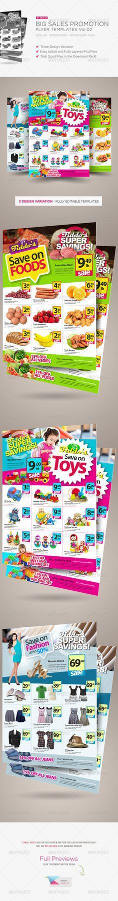 Supermarket / Product Flyer   Flyer template and Brochures